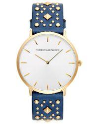 Rebecca Minkoff - Major Embellished Leather Strap Watch - Lyst