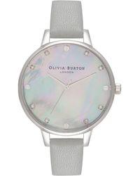 Olivia Burton - Timeless Classic Leather Strap Watch - Lyst