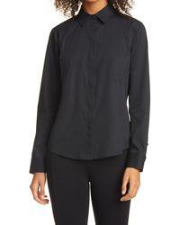 Donna Karan Donna Karan Seamed Woven Shirt - Black