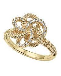 Lagos - 'love Knot' Diamond Ring - Lyst