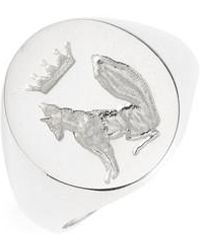 ICONERY | Stone Fox Signet Ring | Lyst