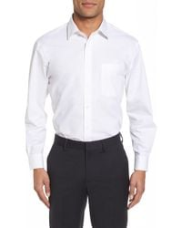 Nordstrom Tech-smart Traditional Fit Stretch Pinpoint Dress Shirt - White