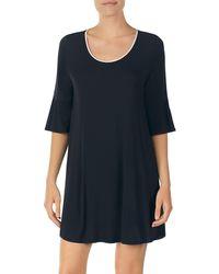 Kate Spade Bell Cuff Sleep Shirt - Black