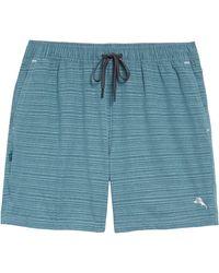 Tommy Bahama Naples Montagu Beach Stripe Swim Trunks - Blue