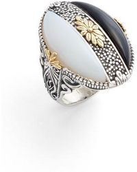 Konstantino | Etched Silver Agate Ring | Lyst