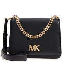 Michael Kors | Large Mott Chain Swag Leather Shoulder Bag | Lyst