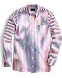 J.Crew   Stripe Boyfriend Shirt   Lyst