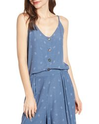 Bishop + Young Button Front Camisole - Blue