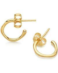 Missoma - Golden Molten Tiny Hoop Earrings - Lyst