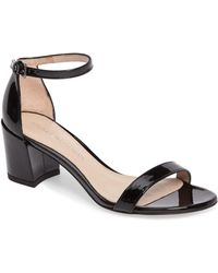 f233100a829 Lyst - Stuart Weitzman Fourbucks Platform Dress Sandal in Black