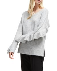French Connection - Emilde Ruffle Detail Sweater - Lyst