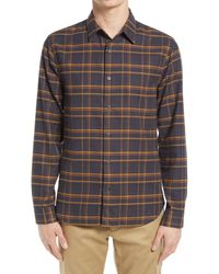 Vince - Classic Fit Plaid Flannel Button-up Shirt - Lyst