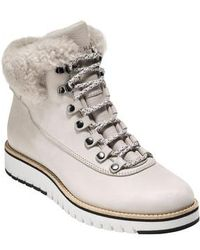 Cole Haan - Grandexpl?re Genuine Shearling Trim Waterproof Hiker Boot - Lyst