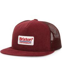 Brixton Palmer Trucker Hat - Burgundy - Multicolour