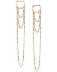 Jennifer Zeuner - Elmar Huggie Chain Earrings - Lyst