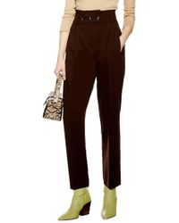 TOPSHOP - Emilie Paperbag Waist Tapered Trousers - Lyst