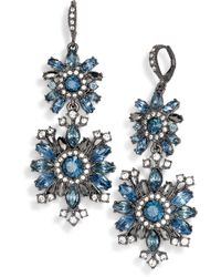 Givenchy - Drama Crystal Drop Earrings - Lyst