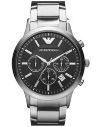Emporio Armani - Stainless Steel Bracelet Watch - Lyst