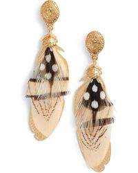 Gas Bijoux - Small Sao Feather Earrings - Lyst