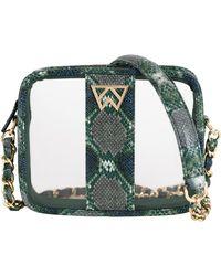 Kelly Wynne Clear Mingle Mingle Mini Crossbody Bag - Green