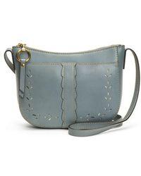 Frye - Ilana Peforated Leather Crossbody Bag - Lyst