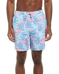 713c9db8f5 Vineyard Vines Painkiller Bungalow Swim Shorts in Blue for Men - Lyst
