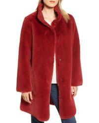 Velvet By Graham & Spencer - Faux Fur Reversible Coat - Lyst