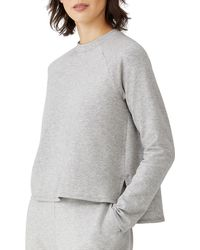 Eileen Fisher Raglan Sleeve Sweatshirt - Gray