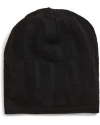 Jimmy Choo Knit Logo Wool Blend Beanie - Black
