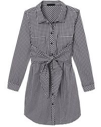 Sanctuary - Tie Front Gingham Shirtdress - Lyst