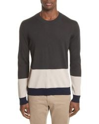 ATM - Colorblock Merino Wool Sweater - Lyst