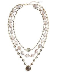 Ela Rae - Multistrand Necklace - Lyst