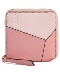 Loewe - Colorblock Puzzle French Wallet - - Lyst