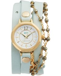 La Mer Collections - Perth Wrap Leather Strap Watch - Lyst