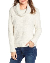 Cupcakes And Cashmere - Cowl Neck Boucle Sweater - Lyst