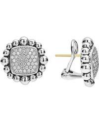 Lagos - Caviar Spark Square Diamond Stud Earrings - Lyst