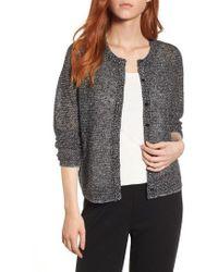 Eileen Fisher - Textured Knit Cardigan - Lyst