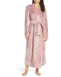 UGG UGG Marlow Double-face Fleece Robe - Pink