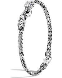 John Hardy - 'legends Naga' Sapphire Double Dragon Sterling Silver Bracelet - Lyst
