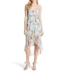 Alice + Olivia - Mable Floral Silk Midi Dress - Lyst