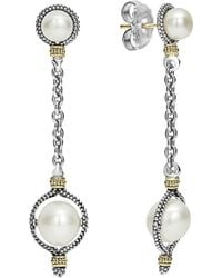 Lagos - Luna Pearl Drop Earrings - Lyst