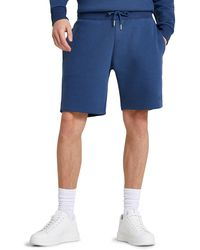 River Island Slim Fit Cotton Blend Sweat Shorts - Blue