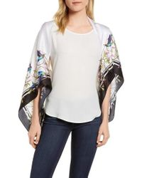 Ted Baker - Chatsworth Bloom Silk Cape Scarf - Lyst