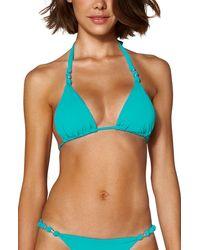 ViX Paula Triangle Bikini Top - Green