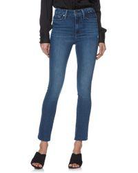 PAIGE - Margot High Waist Slanted Ankle Peg Jeans - Lyst