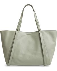 AllSaints - Kathi Studded Leather East/west Tote - Lyst