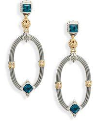 Konstantino Delos Topaz Drop Earrings - Multicolor