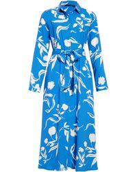 Halogen Halogen Long Sleeve Midi Shirtdress - Multicolour