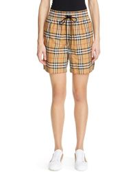 Burberry - Dovemoor Check Shorts - Lyst