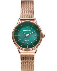 Anne Klein - Solar Mesh Strap Watch - Lyst